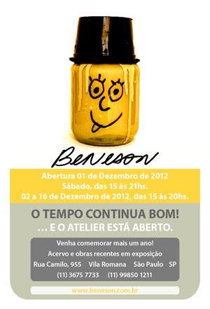 Cartaz da mostra de Osmar Beneson