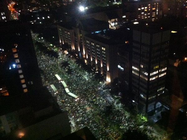 Protesto de rua, foto 1
